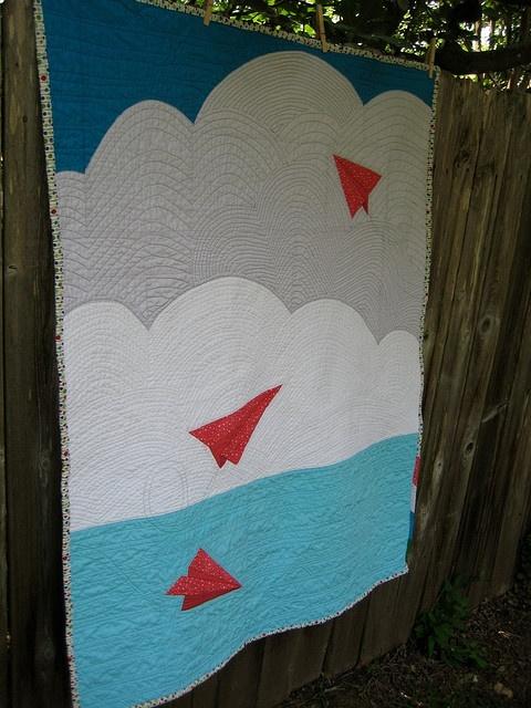 paper plane quilt - another Project Linus quilt idea