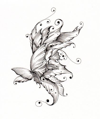 Cool drawing ideas huh march 28 2012 in drawings ideas for Cool drawings of butterflies