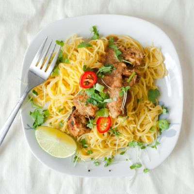 Angel Hair Pasta Dinner with Light Sauce