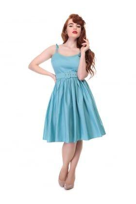 Jade Plain Swing Dress