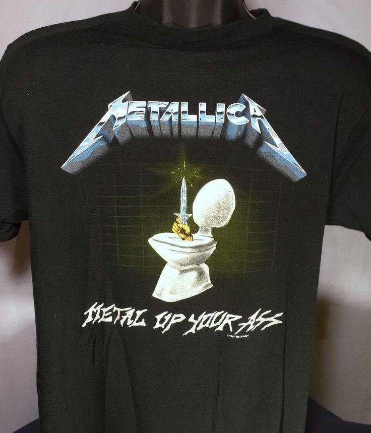 Vintage Metallica Metal Up Your Ass Concert Mens Size XL ...