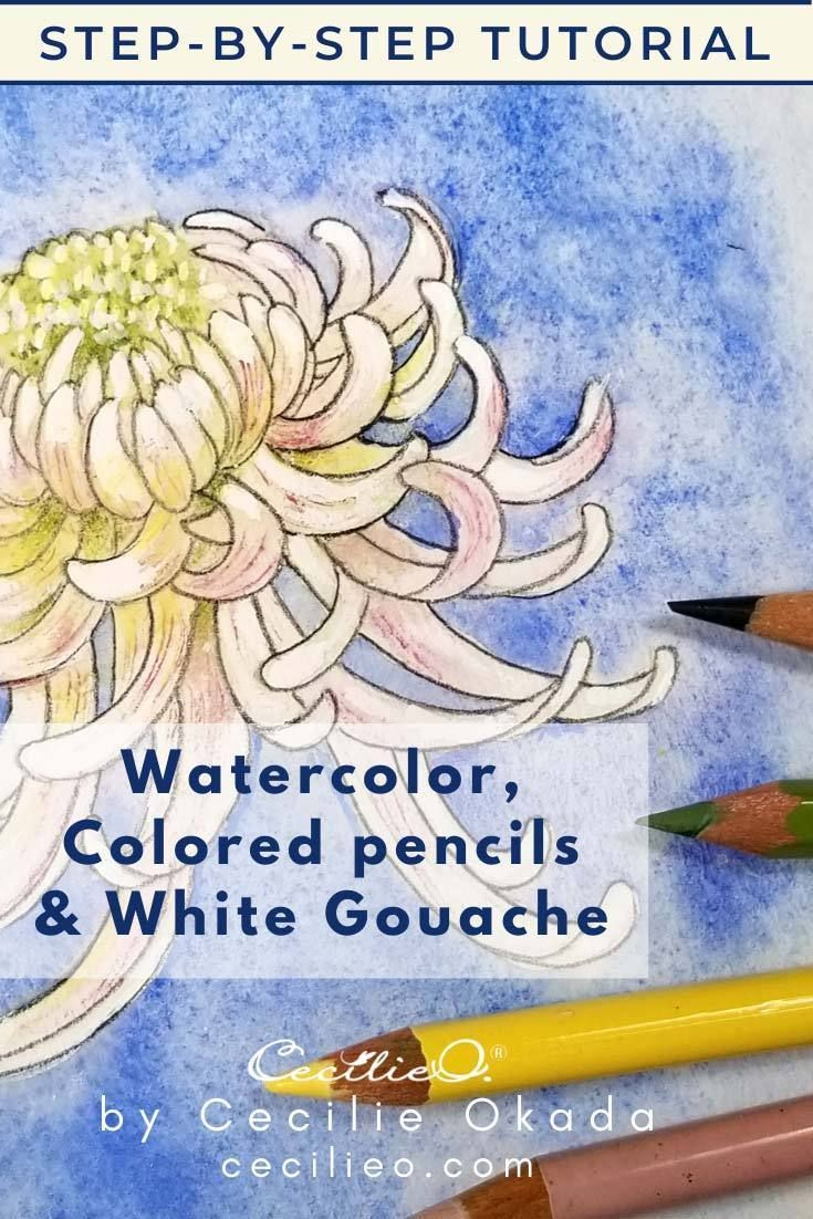 How To Watercolor A Chrysanthemum Flower Watercolor Paintings