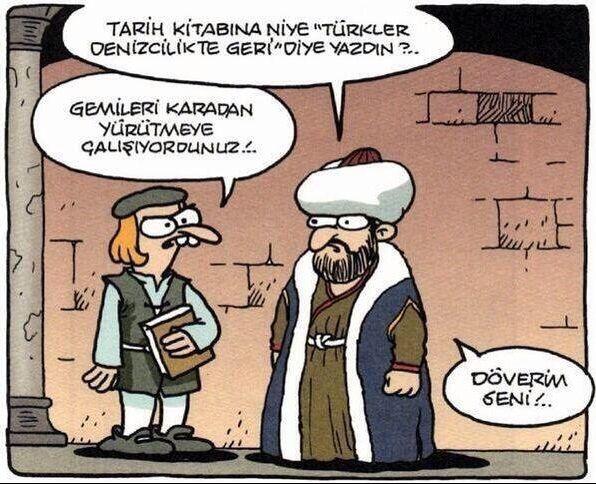 Türkler Denizcilikte Geri Karikatürü