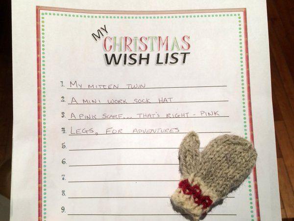 Work Sock Mittens Christmas wish list.