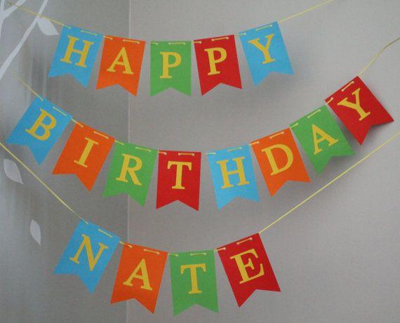custom happy birthday banners