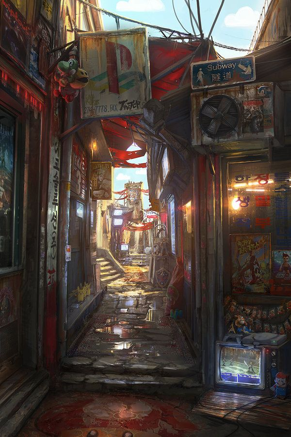 Memory Lane by JonasDeRo. This was the first print I ordered from DeviantArt. Reminds me of the old days, living in Hong Kong :)