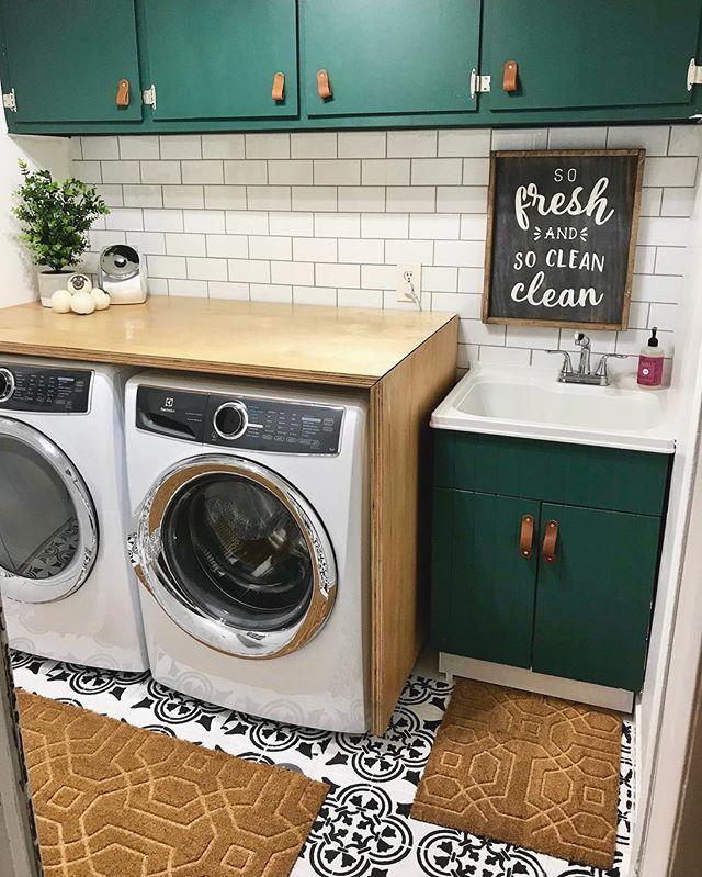Polanka Tile Stencil Laundry Room Decor Laundry Room Tile