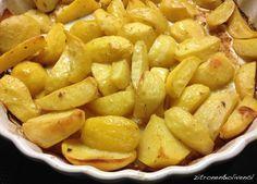 Zitronenkartoffeln mit Olivenöl aus dem Ofen, Patates lemonates
