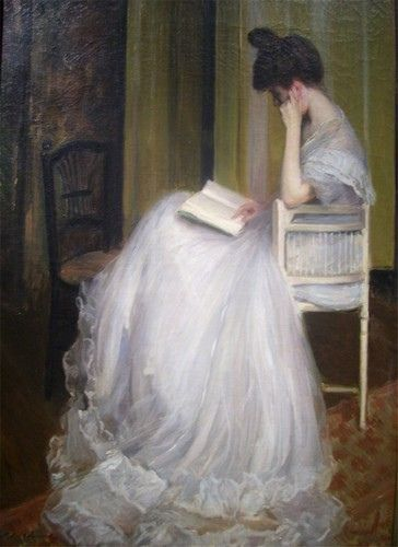Always read in my white gown except on Tuesday when I wear pink