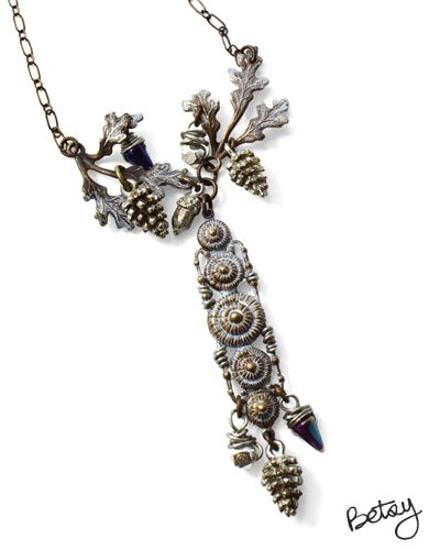 Winter Ruins by Betsy Kaage using beads from our Online Bead Partner @bello Modo & Vintaj!