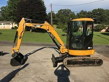 CAT 303CR HYDRAULIC EXCAVATOR DOZER TRACK BOB CAT BACKHOE  CAB CATERPILLER  apply to finance www.bncfin.com/apply excavators for sale - excavator financing