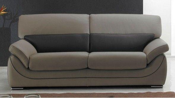 Canapé cuir 2 places ou 3 places, haut de gamme italien