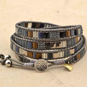 Free Tila Wrap Bracelet Project Tutorial | Mosaic 4 | Beadshop.com
