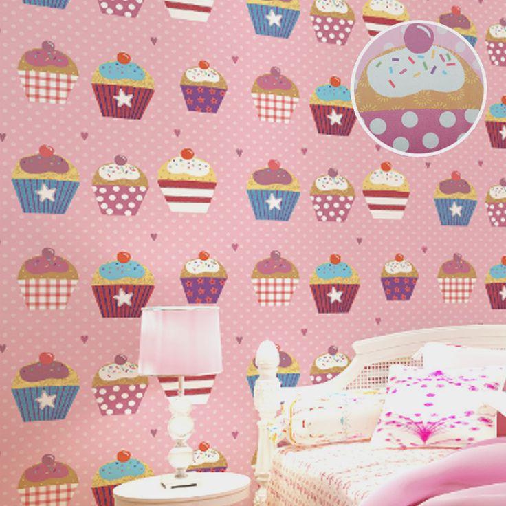 Высочайшее Качество Сладкий Кекс Прекрасный Красочные Современные Дети Обоев для Комнаты и Спальни Розовый Полька Dot Дети Обои 10 М купить на AliExpress