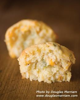 Green-chile corn muffins. Oh dear. . .  #newmexicomagazine, #greenchili,