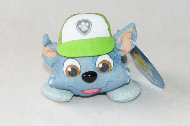 "Paw Patrol Rocky Blue Green Puppy Dog Plush Mini Show Doll Toy 5"" Spinmaster NWT #SpinMaster"