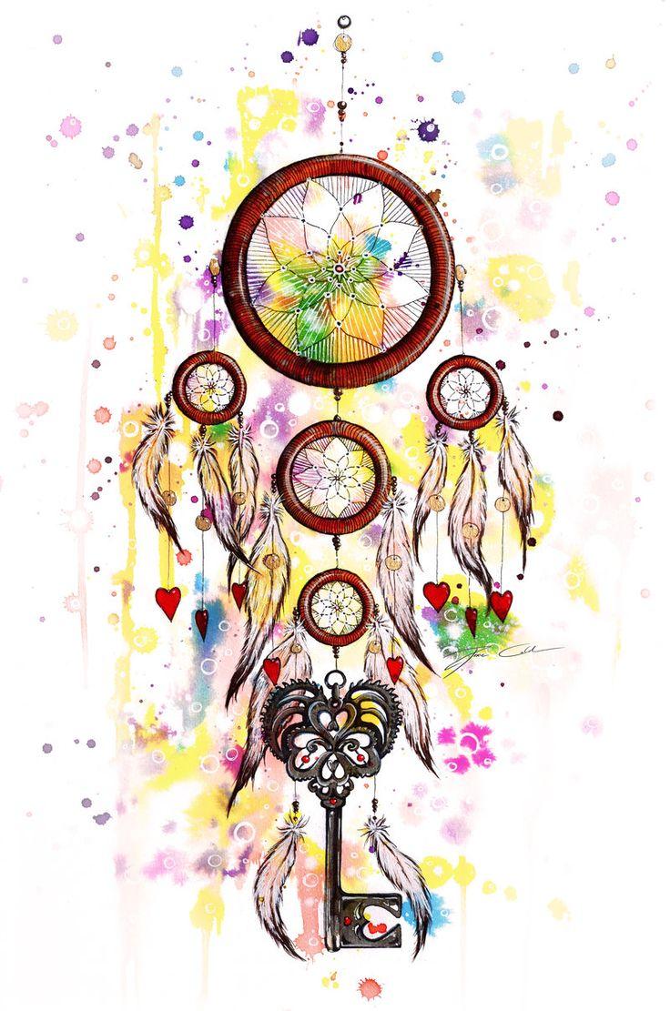Color art dreamcatcher - Catch My Heart Dreamcatcher Hearts And Key