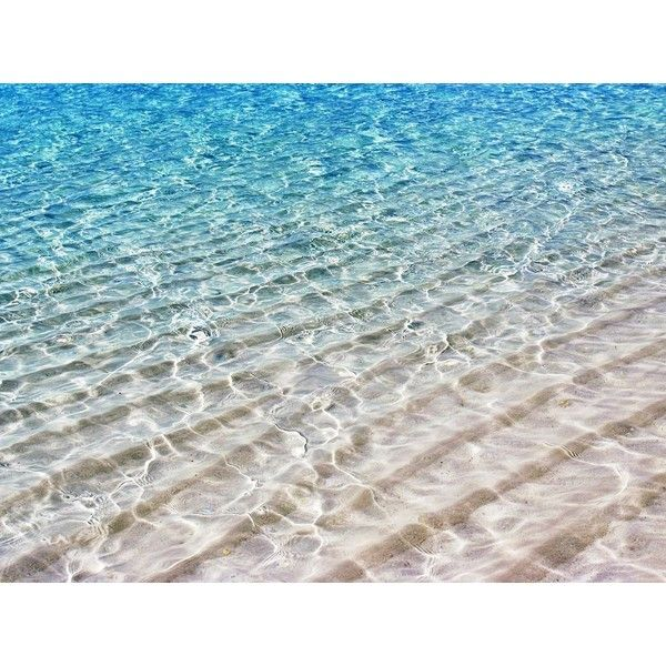 Free Translucent Sea Water Shimmer over White Sand Wallpaper -... ❤ liked on Polyvore featuring backgrounds, beach, pictures and sea