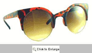 Vamp Retro Cat Eye Sunglasses - 509 Tortoise