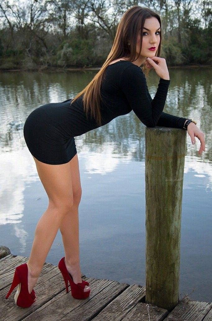 Very hot women bent over in mini skirt