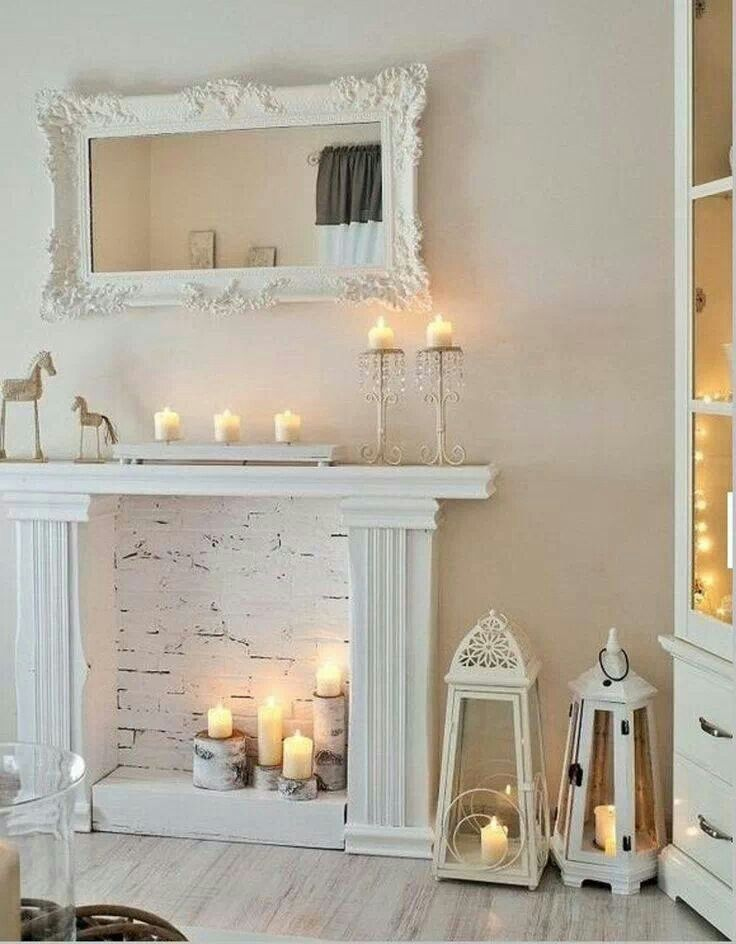 faux fireplace diy to try pinterest. Black Bedroom Furniture Sets. Home Design Ideas