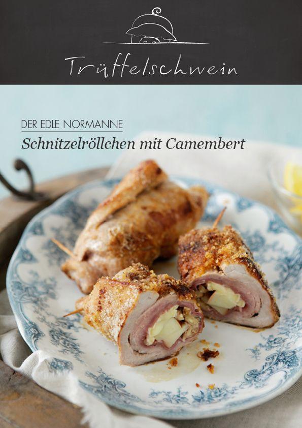 Schnitzelröllchen mit Camembert