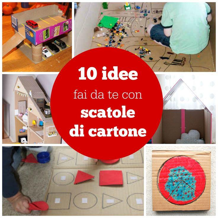 17 migliori idee su scatole di cartone su pinterest for Migliori piani di casa artigiano