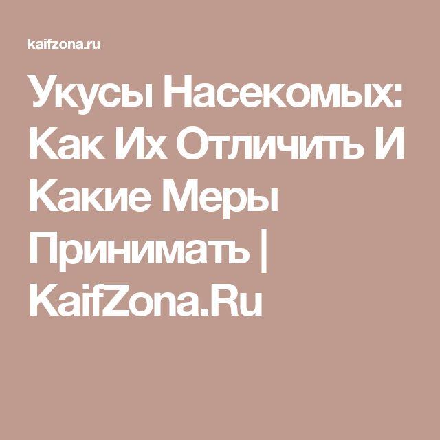 Укусы Насекомых: Как Их Отличить И Какие Меры Принимать | KaifZona.Ru