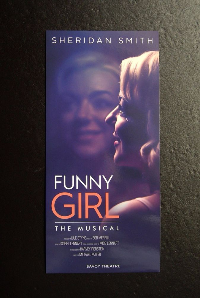 SHERIDAN SMITH FUNNY GIRL THE MUSICAL SAVOY THEATRE FLYER  X 2