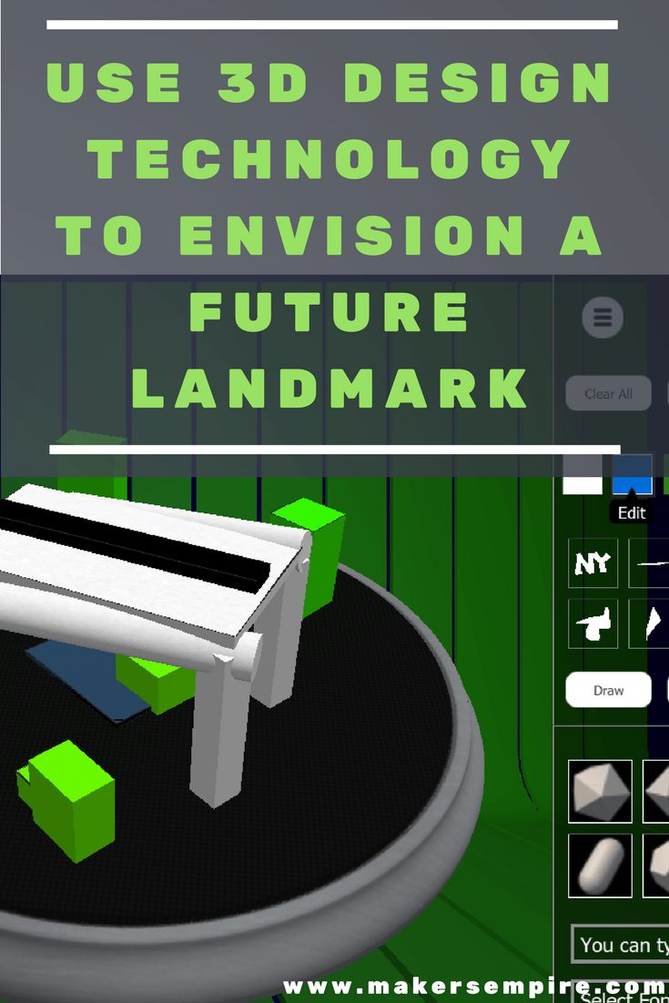 Combine engineering and cultural awareness in this lesson idea where students use 3D design and printing technology to envision a future landmark for your city!