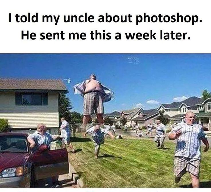 Uncle with Photoshop