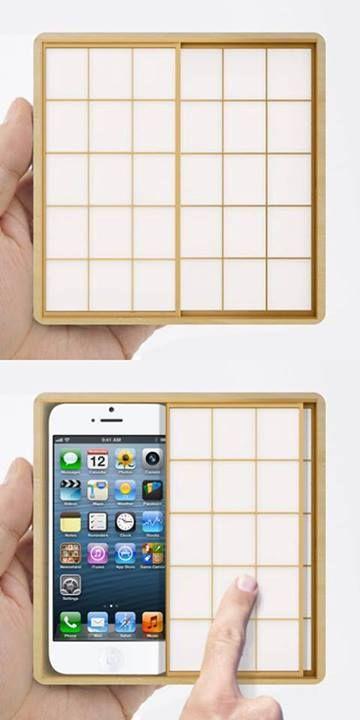iPhone障子ケース。スライドして障子を開けるとiPhoneが。 - まとめのインテリア