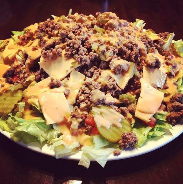 Big Mac Salad Recipe – Low Carb and Super Tasty   – Abnehmen Rezepte