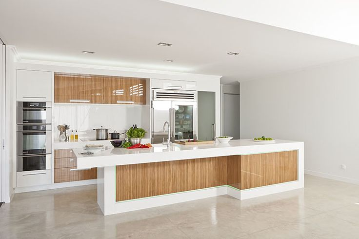 Oak And White Laminate Kitchen Cabinets