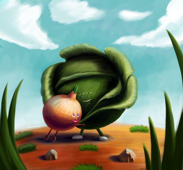 Onions and cabbage)) Парочка из капусты и лука)) Пожалуйста лайкайте и комментики добавляйте, мне будет очень приятно и меня это мотивирует))) на рисование, ведь я это делаю для Вас))), я хочу дарить Вам отличное настроение)))…
