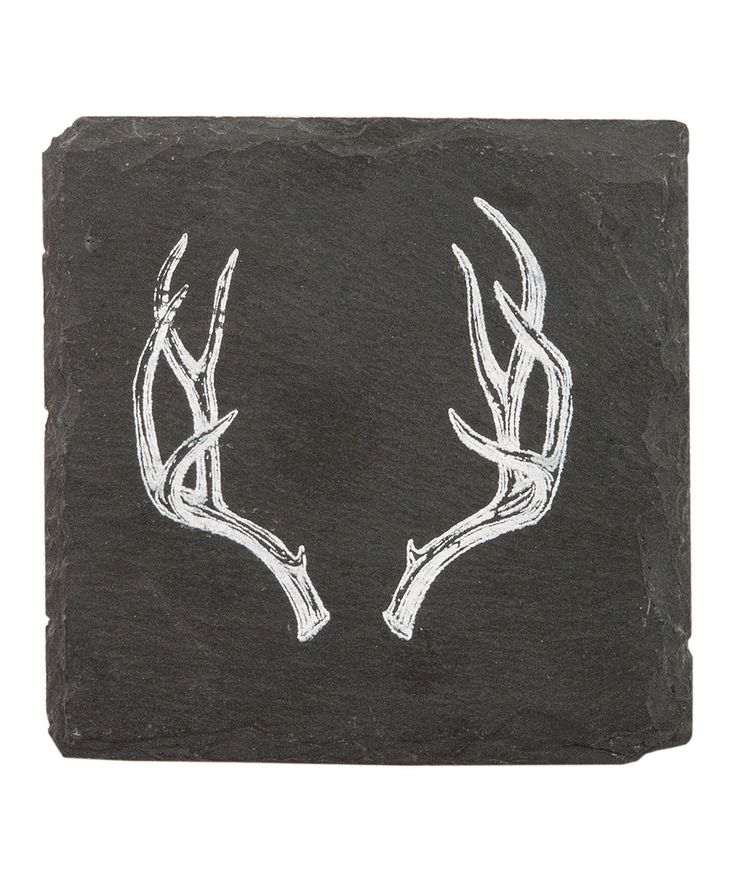 Love this Antler Slate Coaster - Set of Four by True Fabrications on #zulily! #zulilyfinds