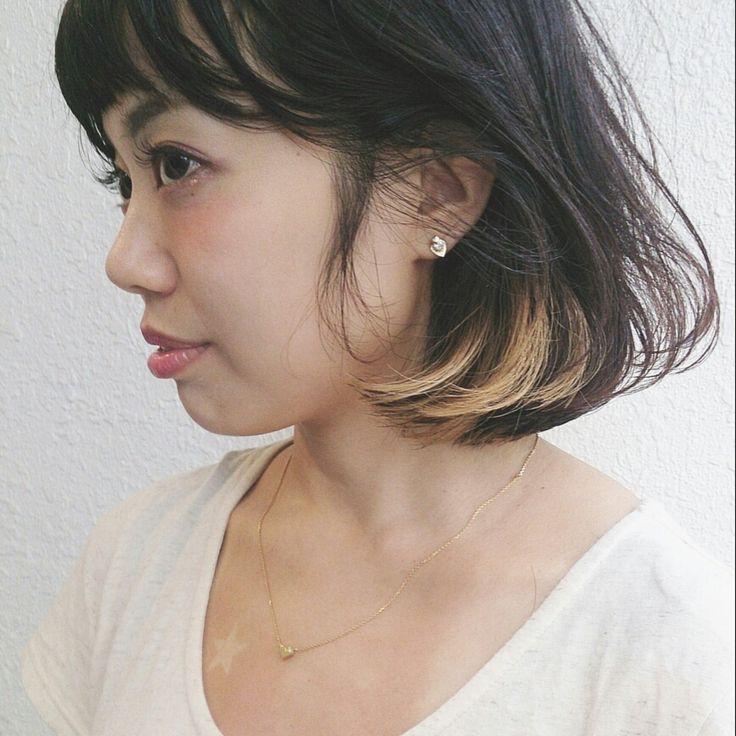 野崎 秀幸さんのヘアカタログ | 大人かわいい,外国人風,グラデーション,ボブ,インナーカラー | 2015.11.24 11.41 - HAIR