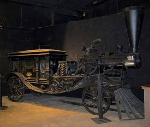 """ Steam-powered hearse at the House on the Rock in Wisconsin "" from justacarguy.blogspot.com…. much of that stuff was made by Dr. Evermor before he had a falling out with the House on the Rock guy… wouldn't be surprised if this was one of his. The..."