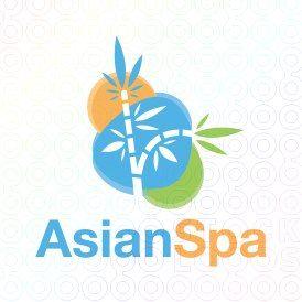 Exclusive Customizable Logo For Sale: Asian Spa   StockLogos.com