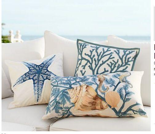 outdoor pillows for a beach home