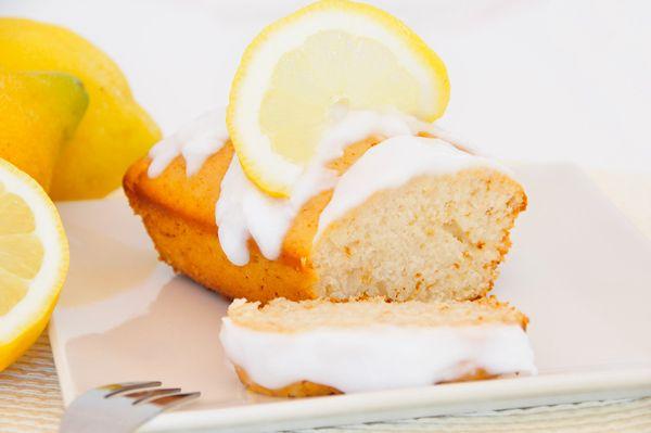 Zitronenkuchen glutenfrei, laktosefrei, eifrei & fructosearm