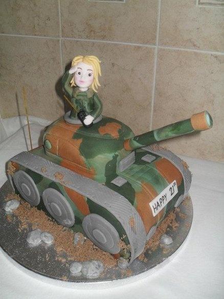 Tank girl  Cake by Marie 2 U Cakes on Facebook