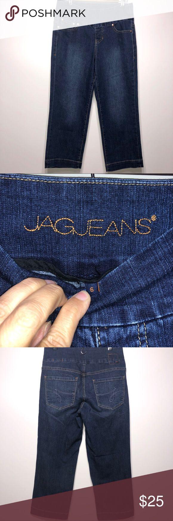 Jag Jeans Cropped Stretch Tummy Control, Size 6 Ja…