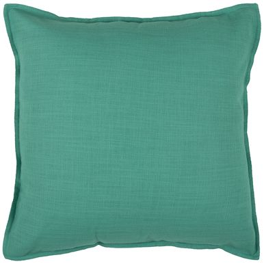 20 Inch X 20 Inch Turkis Decorative Pillow With Self Flange Detail