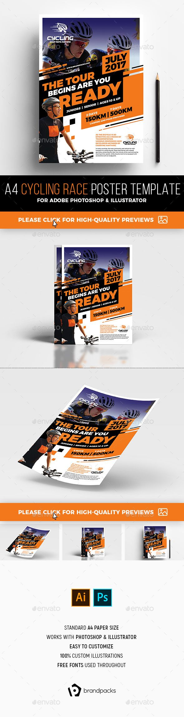 Cycling Race Poster Template - Sports Events