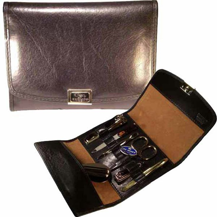 Manicure set in leather. MADE IN ITALY.