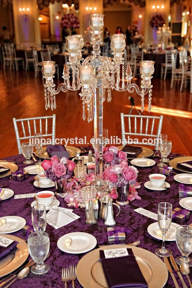Ideas about candelabra centerpiece on pinterest