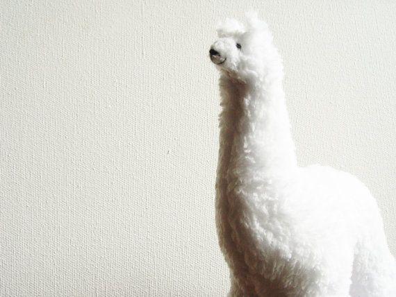 Soft toy white Llama, plush toy Llama, alpaca  stuffed toy