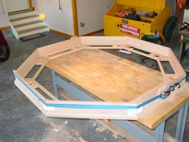 Part 2: How To Build An Octagon Poker Table U2013 Building And Attatching The  Octagon