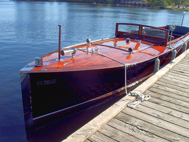 1922 36' McNeil & Norris Long Deck Launch Classic Antique Wooden Boats For Sale | Pb649 | Port Carling Boats